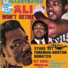 Muhammad Ali, George Foreman, and Ken Norton Autographed Signed Boxing Magazine Cover PSA
