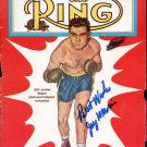 Joey Maxim Autographed Signed 1950s Boxing Magazine Cover PSA