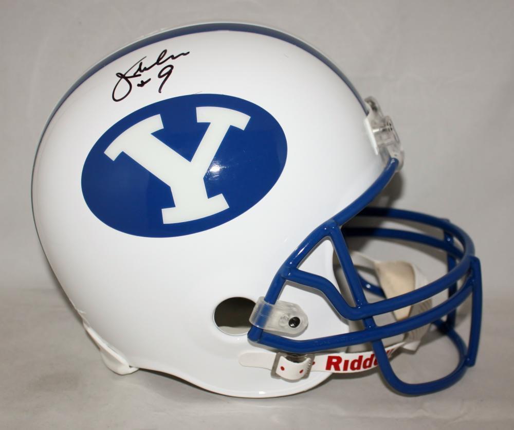 Jim McMahon Signed Autographed BYU Cougars Full Size Helmet JSA