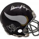 Purple People Eaters Signed Autographed Minnesota Vikings Mini Helmet JSA