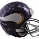 Purple People Eaters Signed Autographed Minnesota Vikings Full Size Helmet JSA