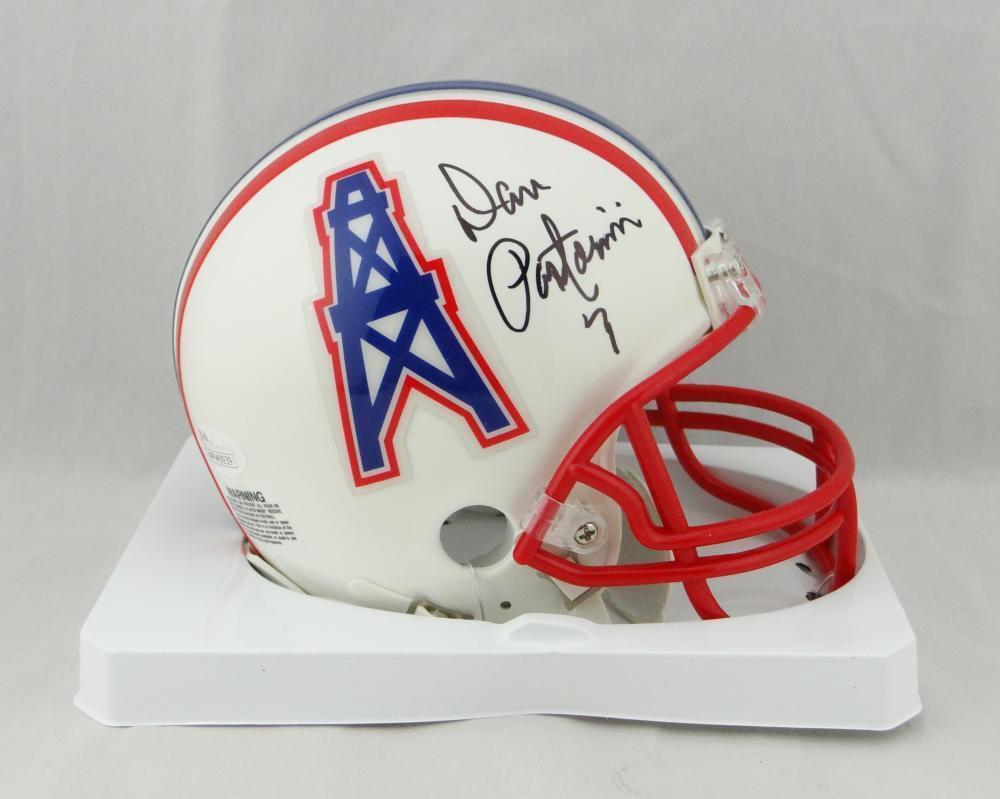 Dan Pastorini Signed Autographed Houston Oilers Mini Helmet JSA