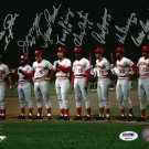 Cincinnati Reds Big Red Machine (8 Sigs) Signed Autographed 8x10 Photo PSA