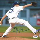 Clayton Kershaw Los Angeles Dodgers Signed Autographed 8x10 Photo PSA