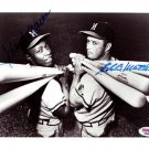 Hank Aaron & Eddie Mathews Milwaukee Braves Signed Autographed 8x10 Photo PSA