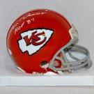 Len Dawson Signed Autographed Kansas City Chiefs Mini Helmet JSA