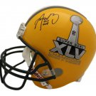 Aaron Rodgers Autographed Signed Green Bay Packers SB XLV Full Size Helmet JSA
