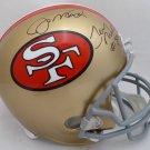 Joe Montana Jerry Rice Autographed Signed San Francisco 49ers FS Helmet BECKETT