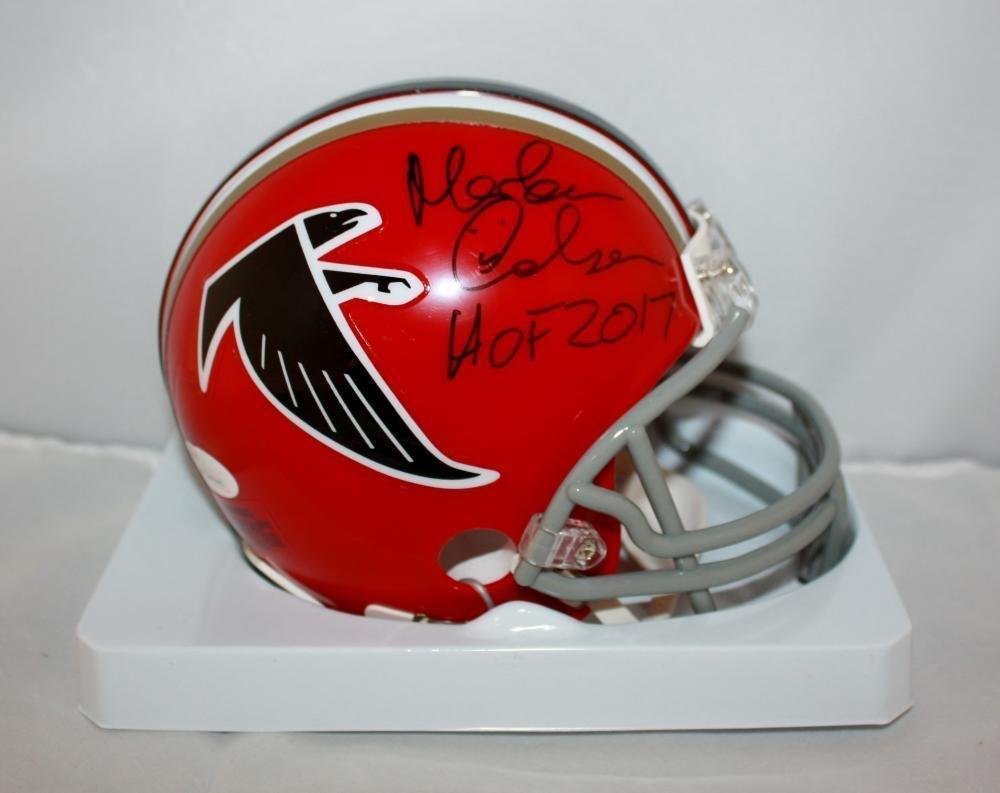 Morten Andersen Autographed Signed Atlanta Falcons Mini Helmet JSA