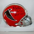 Morten Andersen Autographed Signed Atlanta Falcons Mini Helmet JSA