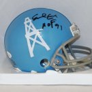 Earl Campbell Signed Autographed Houston Oilers Mini Helmet JSA