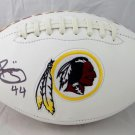 John Riggins Autographed Signed Washington Redskins Logo Football JSA