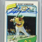 Rickey Henderson Oakland A's Signed Autographed 1980 Topps Rookie Card BECKETT