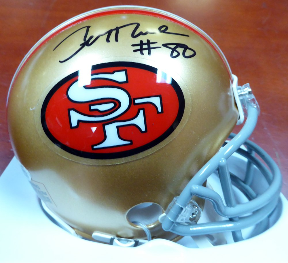 Jerry Rice Autographed Signed San Francisco 49ers Mini Helmet BECKETT