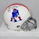 John Hannah Autographed Signed New England Patriots Mini Helmet SGC COA