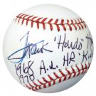 Frank Howard Senators Signed Autographed Official AL Baseball BECKETT
