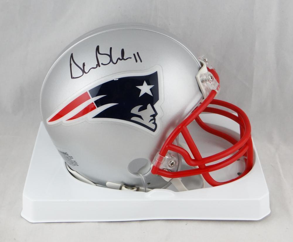 Drew Bledsoe Autographed Signed New England Patriots Mini Helmet BECKETT