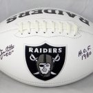 Jim Otto Signed Autographed Oakland Raiders Logo Football JSA