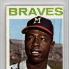 Hank Aaron Milwaukee Braves Signed Autographed 1964 Topps Card PSA