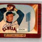 Bob Lemon Cleveland Indians Signed Autographed 1955 Bowman Card BECKETT