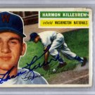 Harmon Killebrew Washington Nationals Signed Autographed 1956 Topps Card BECKETT