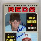 Bernie Carbo Cincinnati Reds Signed Autographed 1970 Topps Rookie Card PSA