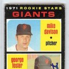 George Foster San Francisco Giants Signed Autographed 1971 Topps Rookie Card PSA