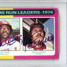 Mike Schmidt & Dick Allen Dual Signed Autographed 1975 Topps Mini Card PSA