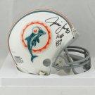 Jim Langer Autographed Signed Miami Dolphins Mini Helmet JSA