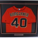 Madison Bumgarner Autographed Signed Framed San Francisco Giants Majestic Jersey PSA