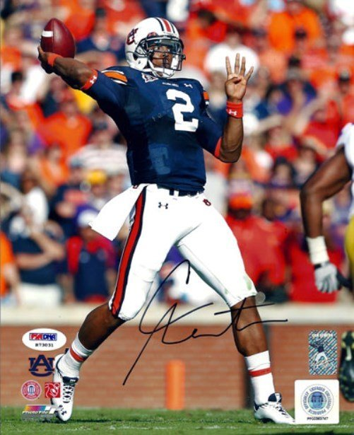 Cam Newton Auburn Tigers Signed Autographed 8x10 Photo PSA