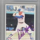 Dale Murphy Autographed Signed 1979 Topps Card BECKETT