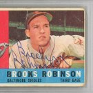 Brooks Robinson Baltimore Orioles Signed Autographed 1960 Topps Card PSA