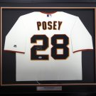Buster Posey Autographed Signed Framed San Francisco Giants Majestic Jersey PSA