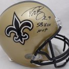 Drew Brees Autographed Signed New Orleans Saints FS SB MVP Helmet BECKETT