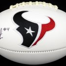 Deshaun Watson Autographed Signed Houston Texans Logo Football BECKETT