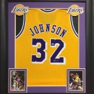 Magic Johnson Autographed Signed Framed Los Angeles Lakers Jersey BECKETT