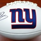 Odell Beckham Jr. Autographed Signed New York Giants Logo Football BECKETT