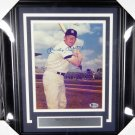Mickey Mantle Framed Autographed Signed 8x10 Photo BECKETT