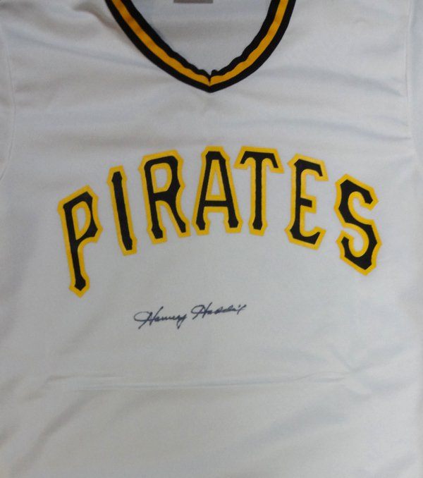 Harvey Haddix Signed Autographed Pittsburgh Pirates Jersey PSA
