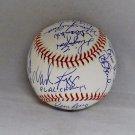 1986 Boston Red Sox Team (23) Boggs Rice Evans Buckner Signed Baseball JSA