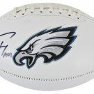 Carson Wentz Signed Autographed Philadelphia Eagles Logo Football FANATICS