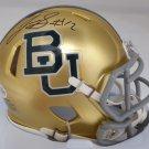 Josh Gordon Patriots Autographed Signed Baylor Bears Speed Mini Helmet BECKETT