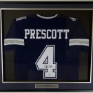 Dak Prescott Autographed Signed Framed Dallas Cowboys Jersey BECKETT