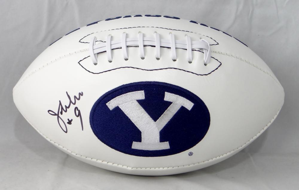 Jim McMahon Autographed Signed BYU Cougars Logo Football JSA