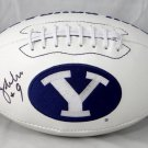 Jim McMahon Autographed Signed BYU Cougars Logo Football JSA