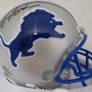 Barry Sanders Autographed Signed Detroit Lions Mini Helmet BECKETT