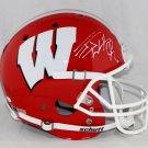 JJ Watt Texans Autographed Signed Wisconsin Badgers FS Schutt Helmet JSA