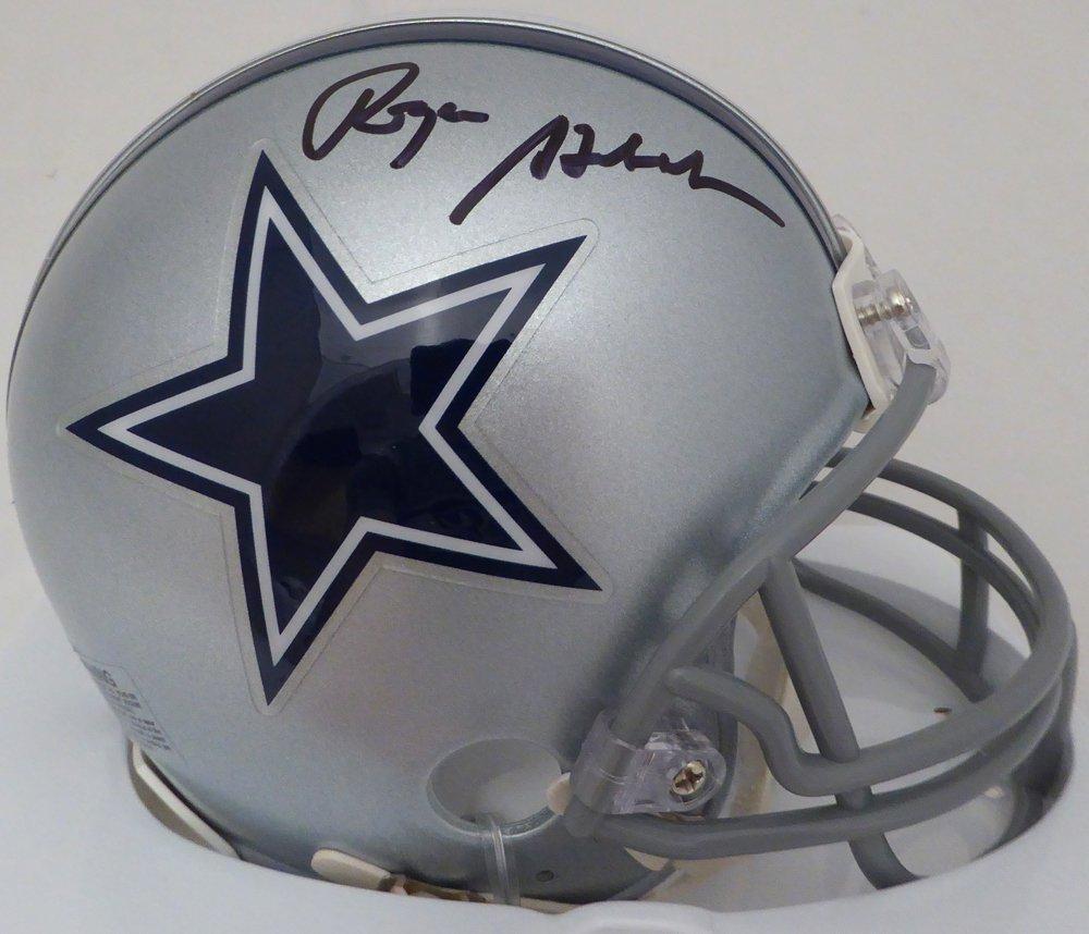 Roger Staubach Signed Autographed Dallas Cowboys Mini Helmet BECKETT