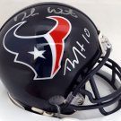 Deshaun Watson & DeAndre Hopkins Autographed Signed Houston Texans Mini Helmet BECKETT
